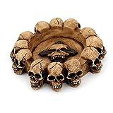 Taitan Ceniceros de resina cráneo Cenicero de Cenicero de calavera humana espeluznante habitación de fumar bar decoración de Halloween