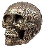 Ebros - Figura Decorativa Coleccionable de Ancient Azteca Nahuatl Codices Antropología Broncea Calavera de 20,32 cm L