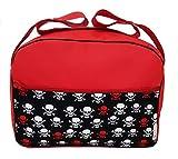 Maxi bolso para carrito de bebé. Varios modelos y colores disponibles. (Calaveras rojas)