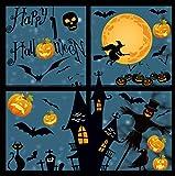 heekpek Halloween Pegatinas de Ventanas Doble Cara Pegatinas en Forma de Calabaza Murciélago y Fantasmas Pegatinas de Decoración para Halloween