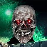 VAZILLIO Mascara de Halloween 3d Máscara terrorista de látex, talla grande, para carnaval, fiestas temáticas, Halloween, cosplay