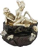 doepeBAE Halloween Cendrier Gothique Résine Cendrier Squelette Sexy Figurine Crâne Effrayant Décoration de Fête Noël Saint-Valentin Ornement de Table Halloween pour Salon Chambre Bar