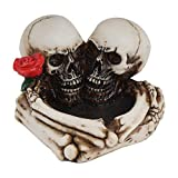 Perfeclan Cenicero de calavera humana para decoraciones de Halloween y Calaveras decorativas y esqueletos figuras como decoración gótica para la habitación de