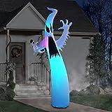 PARAYOYO 270cm Halloween Inflable Terrible Ghost, decoraciones de patio con luces LED para fiesta, hogar, jardín, interior, exterior