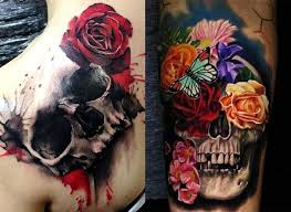 tatuajes-de-calaveras-y-rosas
