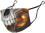 Caixiabeauty Protector bucal con orejeras reutilizable calavera-keywords mascarillas de calavera